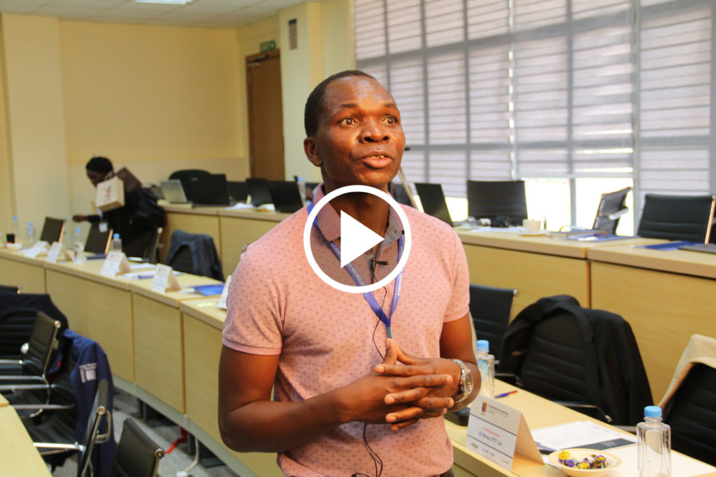 Press play to see the video of Arthur Ernest Gwagwa, Strathmore University at the workshop Toward a Network of Excellence in Artificial Intelligence for Development (AI4D) in sub-Saharan Africa, Nairobi, Kenya, April 2019.