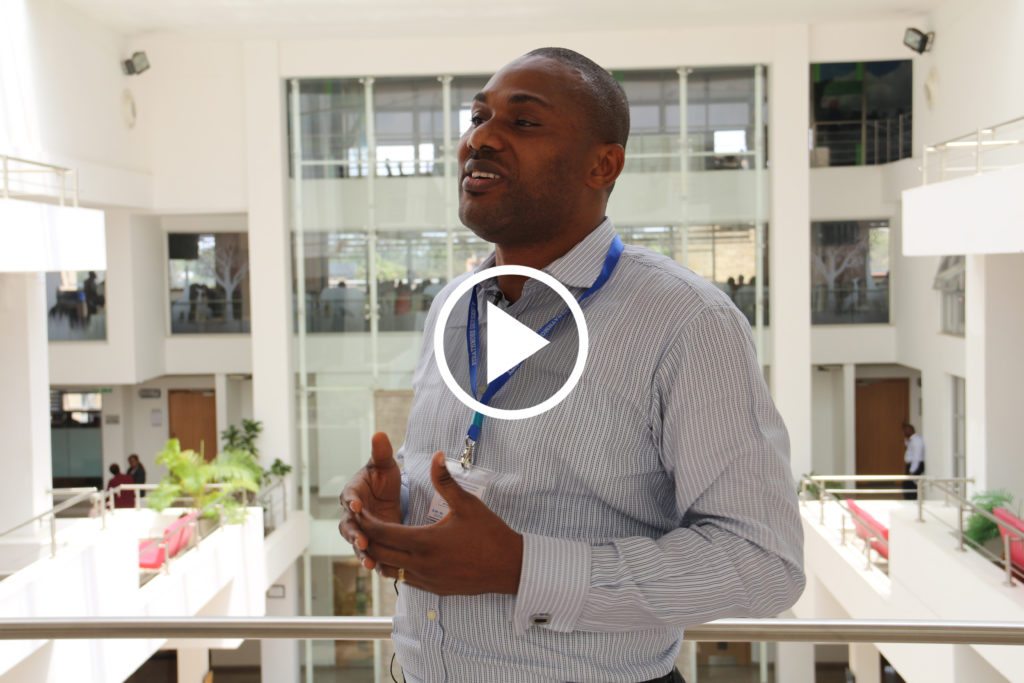 "Olubayo Adekanmbi, MTN Nigeria, Data Science Nigeria at workshop ""Toward a Network of Excellence in Artificial Intelligence for Development (AI4D) in sub-Saharan Africa"", Nairobi, Kenya, April 2019"