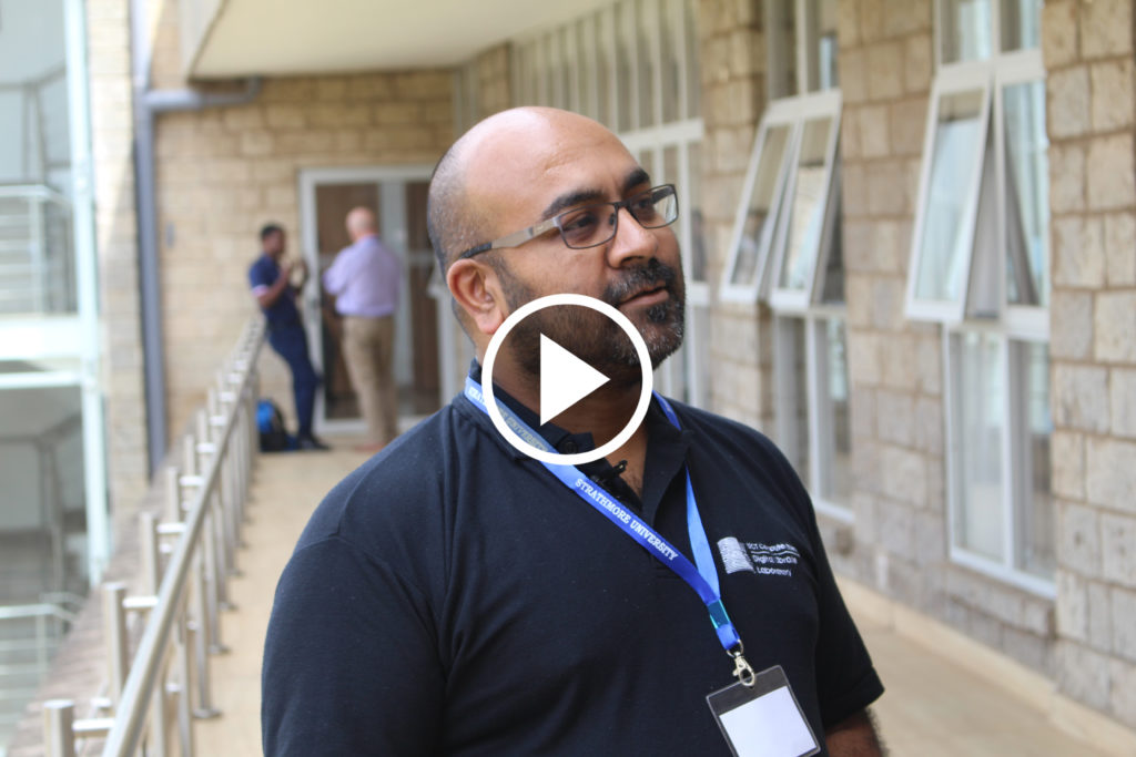 "Hussein Suleman, University of Cape Town at workshop ""Toward a Network of Excellence in Artificial Intelligence for Development (AI4D) in sub-Saharan Africa"", Nairobi, Kenya, April 2019"