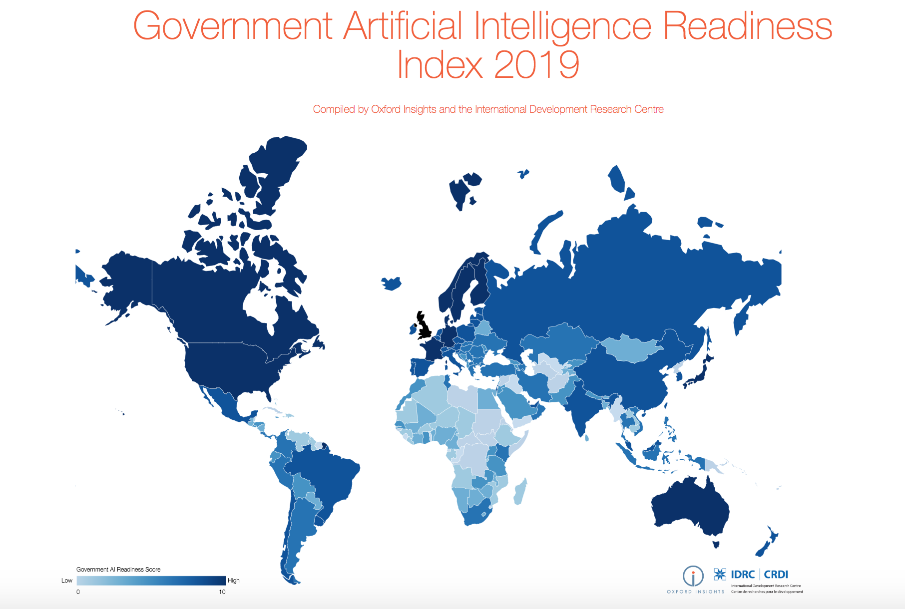 The Government AI Readiness Index 2019: More Equal Implementation Needed to Close Global Inequalities