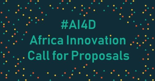 AI4D-Africa Innovation Call for Proposals – July 18th, 2019